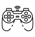 cordless joystick icon outline style vector image vector image