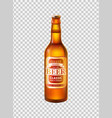 craft beer in bottle with cap realistic 3d vector image
