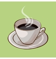 Cup Of Hot Black Coffee Concept vector image vector image