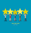 customer quality rating symbol people with stars vector image vector image