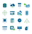Datacenter Flat Icon Set vector image
