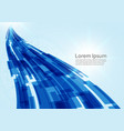 digital technology concept blue line technology vector image