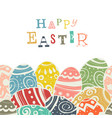 easter eggs on white eggs border down side vector image vector image