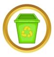 Eco dustbin icon vector image vector image