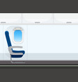 empty aircraft cabin background vector image vector image