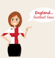 england football fanscheerful soccer fans sports vector image vector image