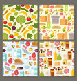 everyday food common goods organic products vector image