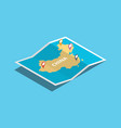 explore china maps with isometric style and pin vector image