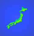 Flat abstract japan islands icon