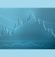 forex stock chart data candle graph vector image vector image