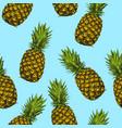 fruit pineapple seamless texture wallpaper vector image vector image