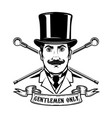 gentlemen club emblem template design element for vector image vector image