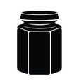 glass jar for jam or honey icon simple style vector image vector image
