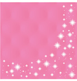 Happy Valentines Day Greeting Card on pink backg vector image vector image