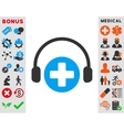 Hospital Call Service Icon vector image vector image