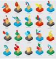Isometric icons collection vector image