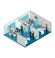 isometric law firm concept vector image vector image