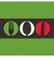 Italian menu design with cutlery symbols vector image vector image