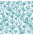 Lineart texture plants seamless pattern background vector image
