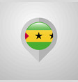 map navigation pointer with sao tome and principe vector image vector image