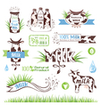 Milk labels and icons for design vector image vector image