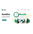 modern flat design deadline can be used vector image