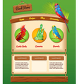 Nature template for bird store vector image
