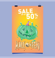 poster halloween sale and party event template vector image vector image