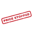 Price Stopped Rubber Stamp vector image vector image