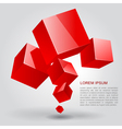 Red cubes vector image vector image
