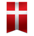 Ribbon banner - danish flag vector image vector image