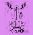 rock music forever on purple vector image vector image