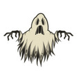 scary ghost in form rags vector image