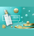 scene with border and lotion spray bottle vector image vector image