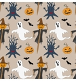 Seamless pattern with monsters Print for vector image vector image