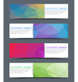 Set of geometric polygonal banner vector image vector image