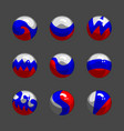 set with button in russian color vector image
