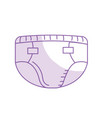 silhouette baby diaper thet use unterwear vector image vector image