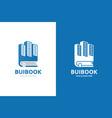 skyscraper and book logo combination unique real vector image vector image