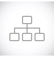 Structure black icon vector image vector image