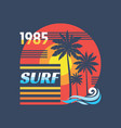 surf - concept in vintage vector image vector image