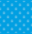 systems 3d printing pattern seamless blue vector image vector image