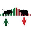 trade market bulls against bears vector image