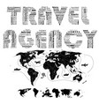 travel agency word vector image