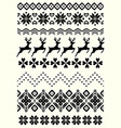 ugly sweater seamless borders vector image vector image