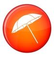 Umbrella icon flat style vector image vector image