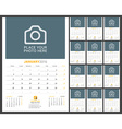 Wall Monthly Calendar Planner for 2016 Year Design vector image