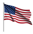 waving national flag of united states of america vector image vector image