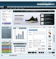 web design website element template button a web vector image vector image