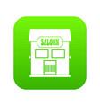 western saloon icon digital green vector image vector image